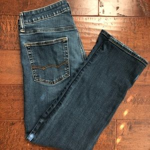 American Eagle straight ankle jeans